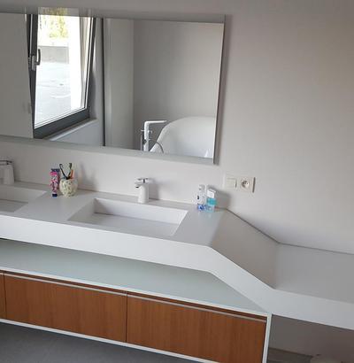 Umywalki podwójne - nowoczesne duże umywalki na wymiar