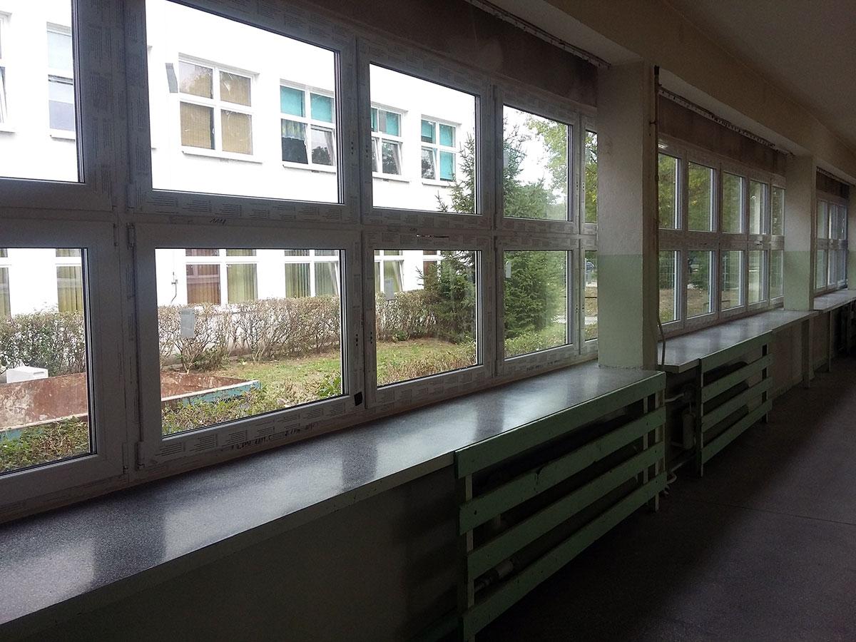 Wymiana okien w gimnazhum