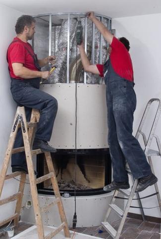 Kominek z systemem Dystrybucji Gorącego Powietrza