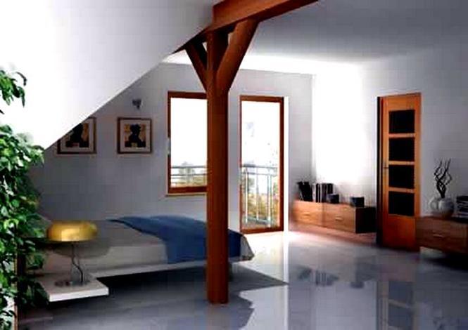 Sypialnia na poddaszu otwartym