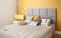 Tapicerowany zagłówek do łóżka. 10 modnych pomysłów na ścianę - INSPIRACJE