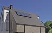Grafitowy dach z jasnoszarą elewacją