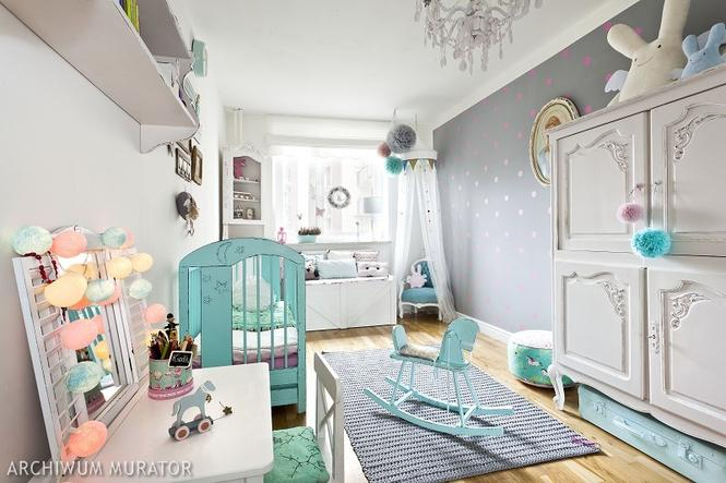 Malowanie pokoju dziecięcego - zdrowe farby do ścian. GALERIA aranżacji - Wnętrza - Muratordom.pl